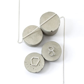 Modern Concrete Flat Lay Jewellery Display Inspiration Blog Post by PASiNGA