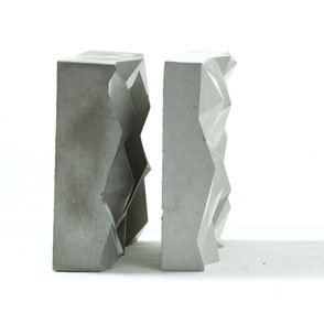 Abstract Geometric Concrete Mountain Tile, jewellery display by PASiNGA art