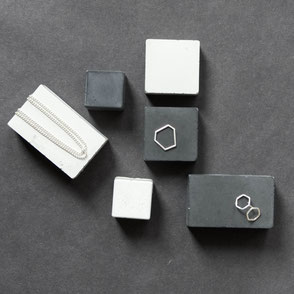 Concrete Prism Jewellery Display Blocks By PASiNGA Design