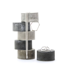 Concrete Cylinder Set of 6 By PASiNGA