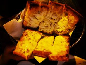 Knoblauchbrot mit Käse Cioppinos