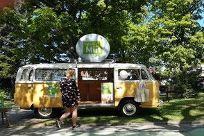 VW T2 Bulli mieten Marketing Werbeträger Werbung Event Firmen