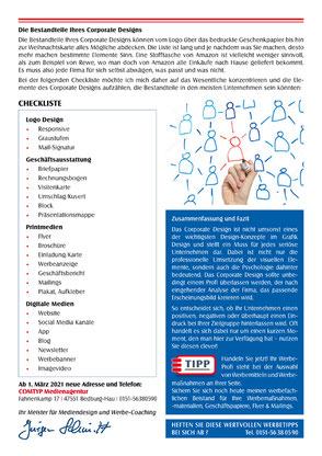 Rückseite des Coachingbriefs mit Checkliste.