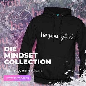 beyoutiful hoodie schwarz mindset collection