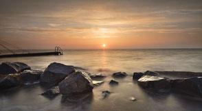507 Steiger bij zonsopkomst IJsselmeer