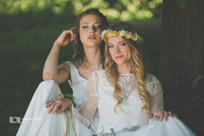 Boho Hochzeitskleid mit Spitze