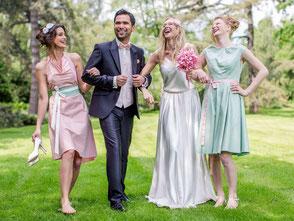 Boho Brautkleid für die Gartenhochzeit