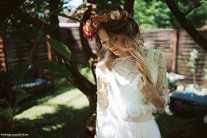 Boho Brautkleider im Hippie Stil