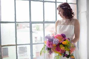 Brautkleid Vintage mit zarter Spitze