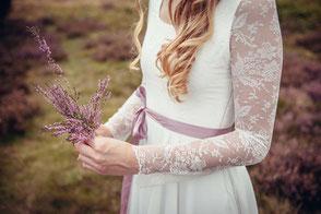 Spitzen Brautkleid mit Ärmel - bio & vegan