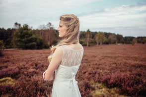 Bio Brautkleid mit Spitzendetails - fairtrade & vegan