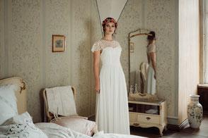 """Brautkleid """"Mamiko"""" im Vintage-Stil"""