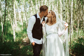 romantisches Vintage Hochzeitskleid aus Spitze - Foto: Anna Reineke und Greta Lutterbach