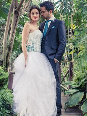 extravagantes Brautkleid für die moderne Prinzessin