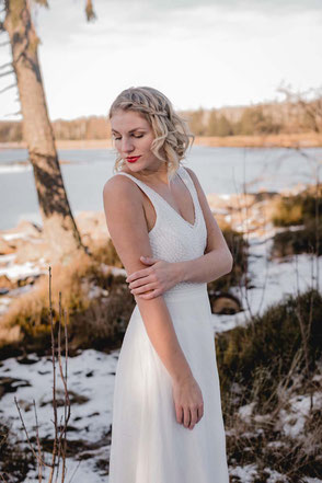 Brautkleider aus Baumwolle - schlicht & modern
