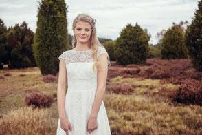 Vintage Brautkleid mit Spitze - bio & vegan