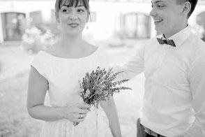 Brautkleid Vintage mit Botanik Spitze