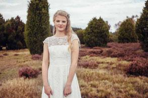 Vintage Brautkleider mit Spitze