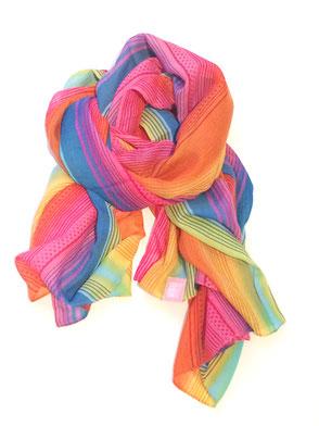 rainbow scarf regenbogen schal