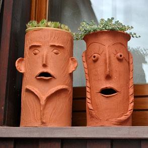 Töpfern Terrakotta für den Garten