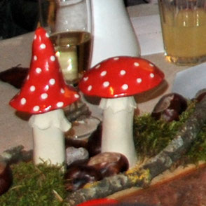Tischdeko mit Gartenkeramik