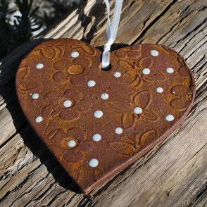 Keramik Herz für Mutter oder Oma zum Muttertag