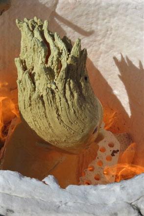 Keramik im offenen Feuer