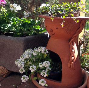 Terrakotta-Gartendeko