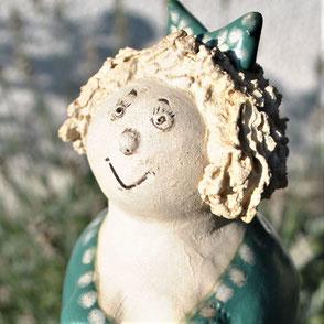 Zaunhocker Keramikfigur