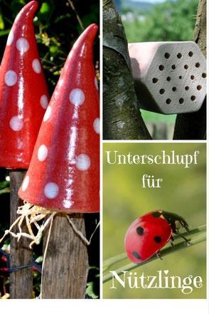 Insektenhotels für Nützlinge im Garten