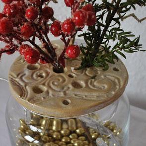 Keramik Vasendeckel