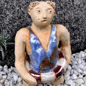 Keramikfigur für den Garten