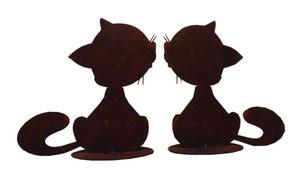 2 Kätzchen Skulptur