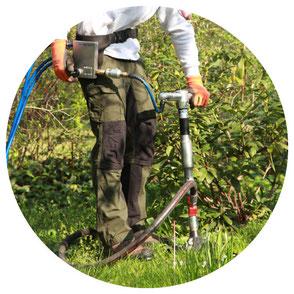 Bodenbelüftung um Bodenverdichtung zu beseitigen