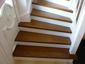 Treppen - Holz auf Beton - Foto: KÄPPLER BauTischlerei