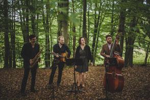 musikalischer Empfang im Quartett