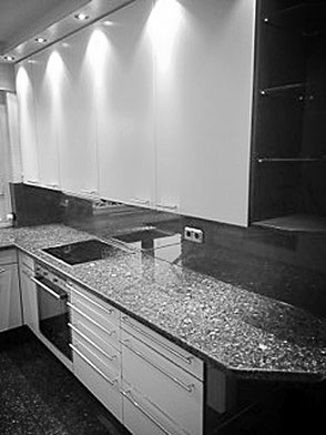 Küche im Retro-Stil