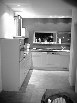 Küche mit Akzentfarbe