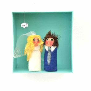 Fingerpuppen Hochzeitspaar