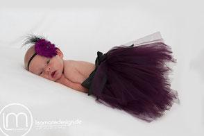 Babyfotos Leipzig - Neugeborenenfotografie mit 7 Tagen als Prinzessin