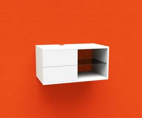 Cafeteriamodul auf Schallabsorber mit individuellem Motiv, Küchendeko