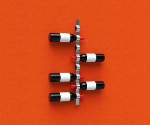 Flaschenhalter auf Schallabsorber mit individuellem Motiv, Küchendeko
