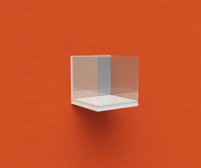 Glasvitrine für Ihre Dekoration, als vor individuellem Bildmotiv. Dein Urlaubsbild als Hintergrund