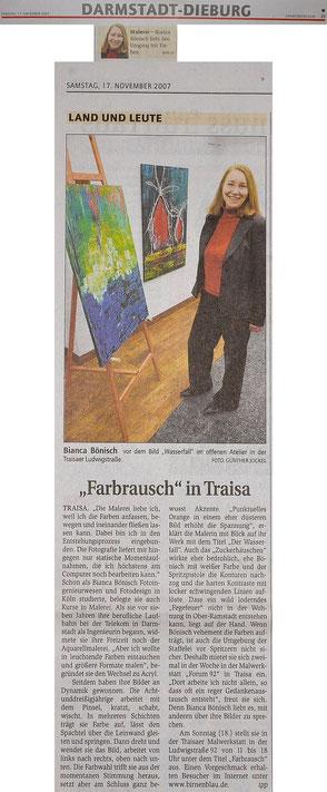 Presseartikel Darmstädter Echo vom 17.11.2007