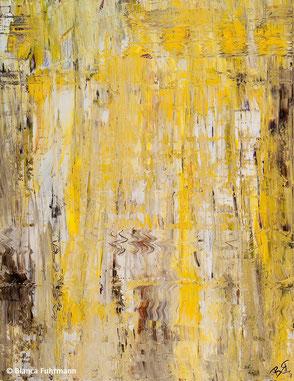 Gelb  - Acryl auf Leinwand - (c) Bianca Fuhrmann