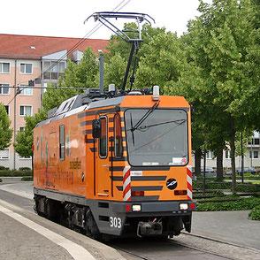Windhoff Schienenschleifwagen in Potsdam