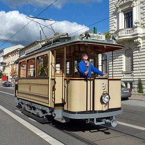 Historische Straßenbahn in Potsdam