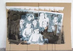 Tusche auf Karton, 2020, ca. 114 x 134 cm