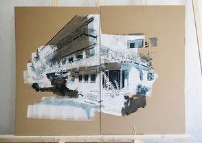 Tusche auf Karton, 2020, ca. 114 x 134 cm, Preis 100 Euro