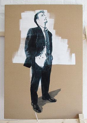 Tusche auf Karton, 2020, ca. 114 x 67 cm
